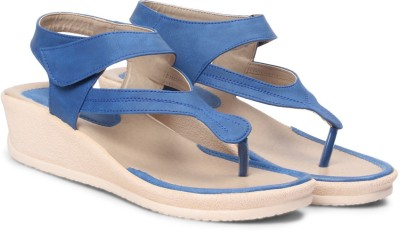 Meriggiare Women Blue Wedges