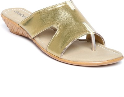 Dressberry Women Gold Wedges
