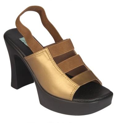 Awssm Women Gold Heels