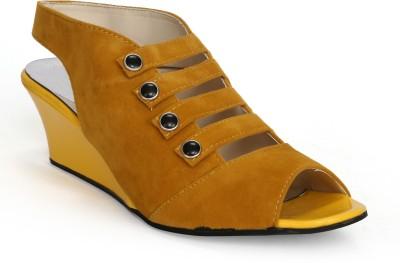 Fadrin Women Yellow, Yellow Heels