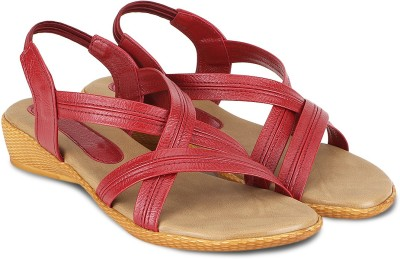 Agastya Women Maroon, Beige Heels