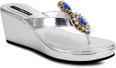 Get Glamr Stylish Girls Silver Wedges