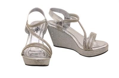 Luca Fashion Women Silver Wedges