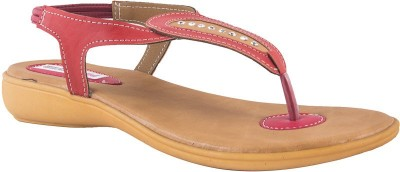 Pink Fever Women Red, Beige Flats