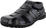 Elvace Men 401,Black Sandals