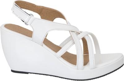 Fashion Feet Women White Wedges