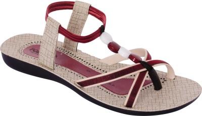 Poddar Women Red Flats
