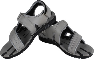 Vivaan Footwear Grey-829 Men Grey Sandals