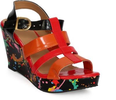 Fadrin Women Red, Red Heels