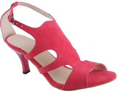 Adorn Women Pink Heels