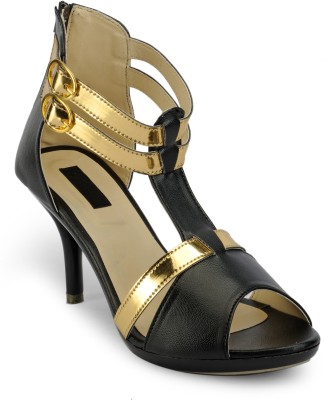 Something Different Women Black, Gold Heels