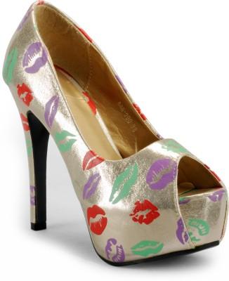 Aqua Women Silver Heels
