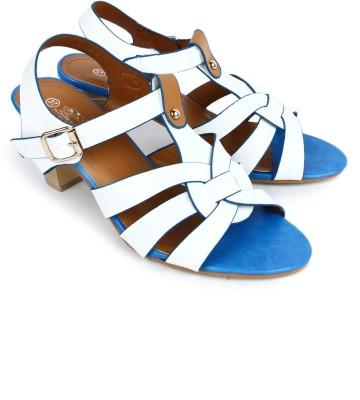 Starchi Women White, Blue Heels