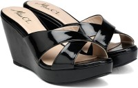 Carlton London Miss CL Women BLACK Wedges best price on Flipkart @ Rs. 897