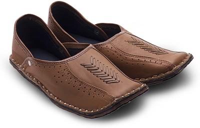 Great Art Great Art Men Rajasthani Ethnic Juti Tan Leather Mojari Shoe 201 Jutis