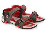 Corpus Men Grey::Red Sandals