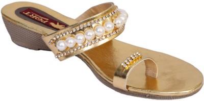 Port Women Gold Wedges