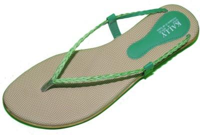 Kally Women Green Flats