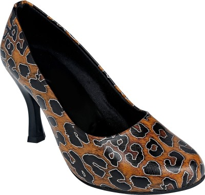 Shoe Bazar Women Tan Heels