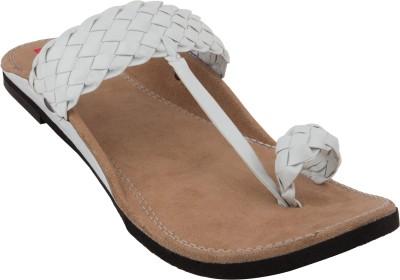 Footrendz Men White Sandals