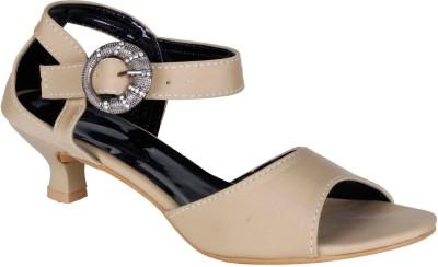 Lovely Chick Women Beige Heels