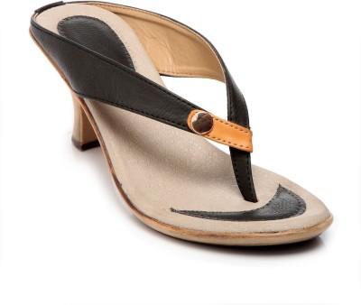 FEET N KNOTS Women Black Heels