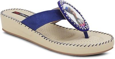 Get Glamr Stylish Girls Blue Wedges