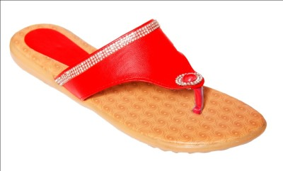 Step Zone Women Red Flats