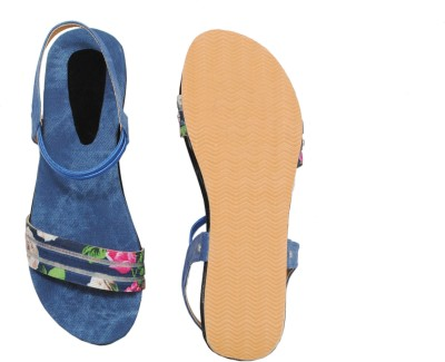 Clever Steps Women Blue Sandals