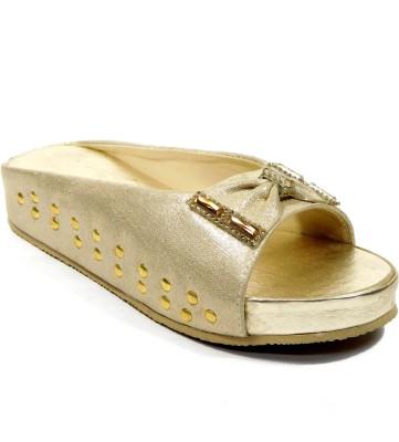 INDIANO Women Gold Heels