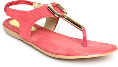 Nshell Women Pink Flats