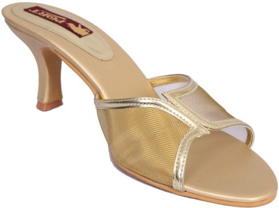 Port Women Gold Heels