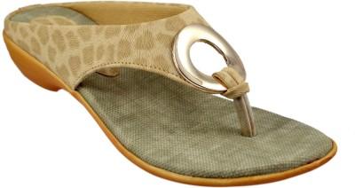 Sahebji Women Beige, Brown Sandals