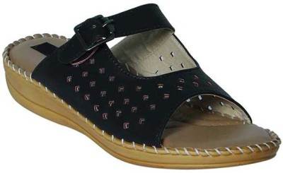 Alexus Girls Slipper Flip Flop(Black)