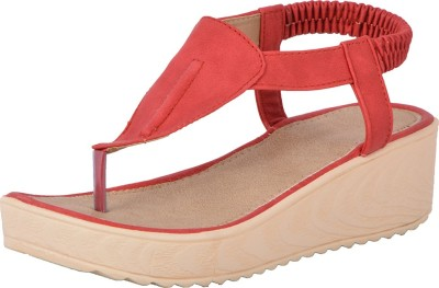 Royal Collection Women Red Wedges
