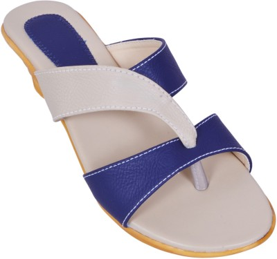 Laila Collection Women Blue Wedges