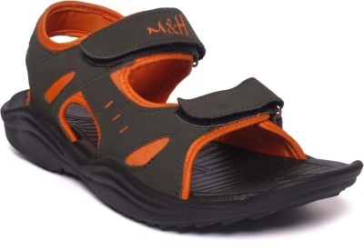 M&H Men Olive, Orange Sandals
