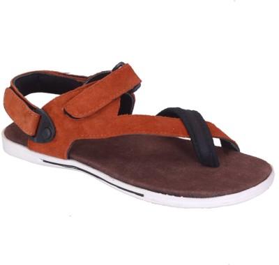 Franklien Men Orange Sandals