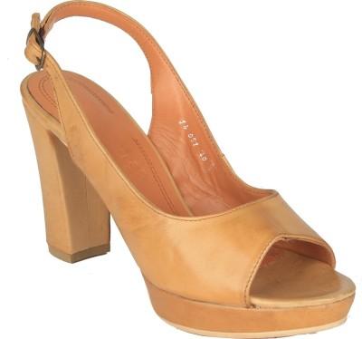 Salt N Pepper 14-051 Megan Cuio Women Tan Heels