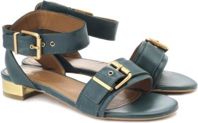 Clarks Simba Romeo Women Gold, Green, Brown Heels