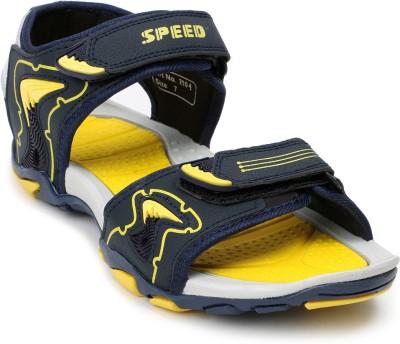 Speed Men Navy, Yellow Sandals