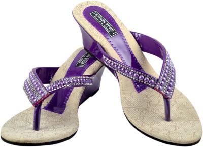 Leatherwood1 Women Purple Heels