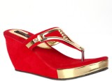 Trilokani Women Red Wedges