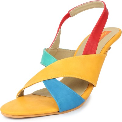 Cara Mia Women Yellow Heels