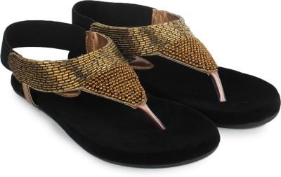 Do Bhai 100100-golden Women Gold Flats