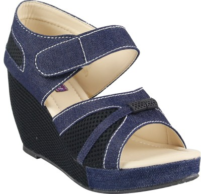 Cute Fashion Women Blue Wedges