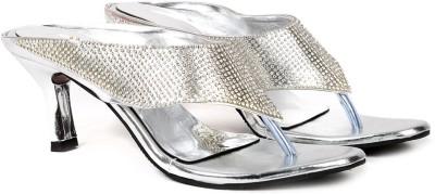 Ka Fashion Women Silver Heels