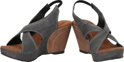 Baba Enterprises Women Grey, Brown Wedges