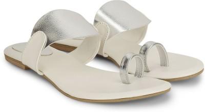 CSBS Sale Women White, Silver Flats