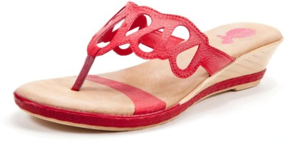 Beyond Heartwine Ally Women Red Wedges